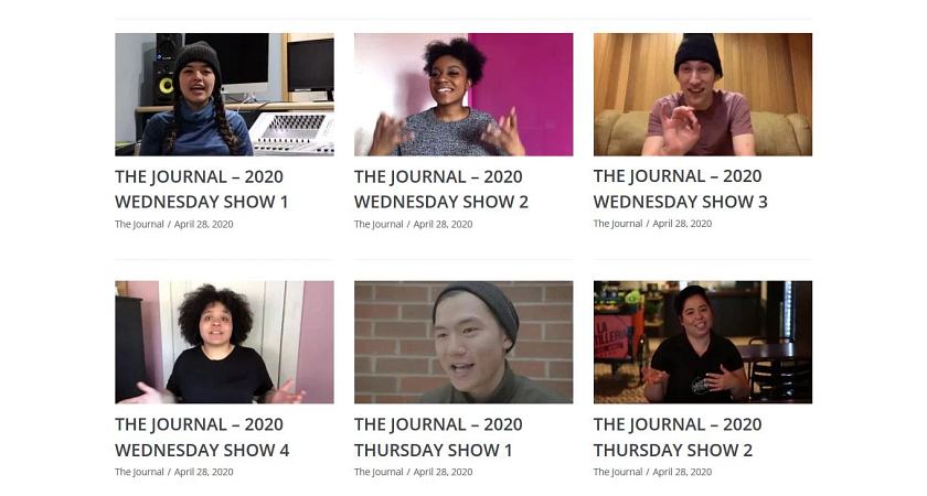 Broadcasting on location: How our students made The Journal happen from home Image