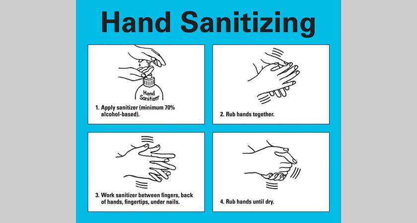 A graphic that shows proper hand washing instructions