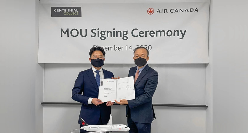Centennial College and Air Canada partner to give South Korean students an easier path to Canada Image