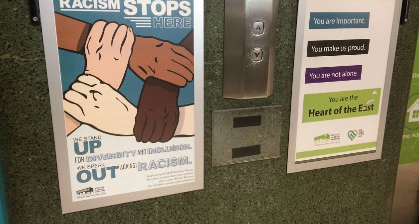 MGH Anti-Racism Poster by Elevators