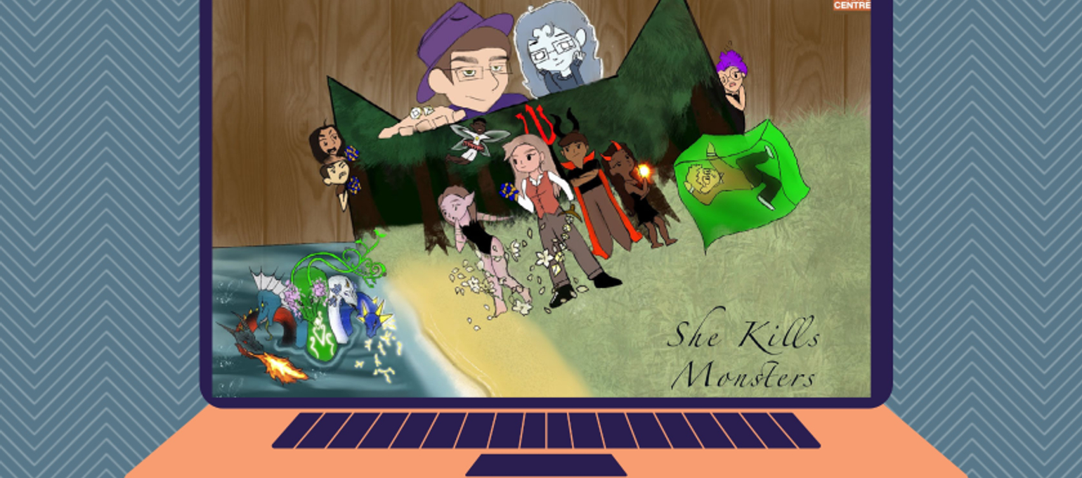 Theatre Arts and Performance Students Perform, She Kills Monsters: Virtual Realms Image