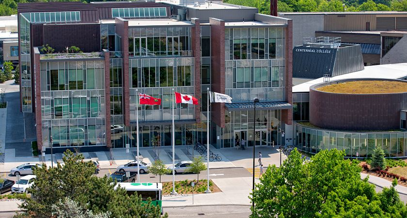 Progress campus library building exterior