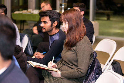 Picture of Centennial College students during an open forum