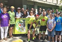 Cyclists cross Canada to raise money for paediatric cancer Image