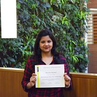 Picture of International Education Scholarship Student Bhavika Masand