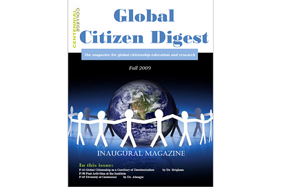 Global Citizen Digest Inaugural cover 2009