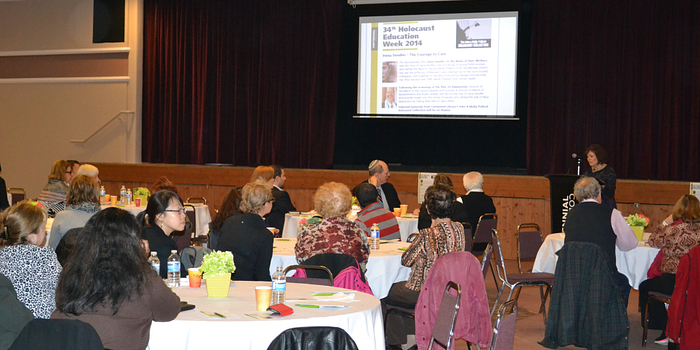 Picture of the Centennial College Holocaust Education Week event