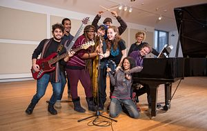 picture of Centennial College Music Industry Arts and Performance program students playing instruments