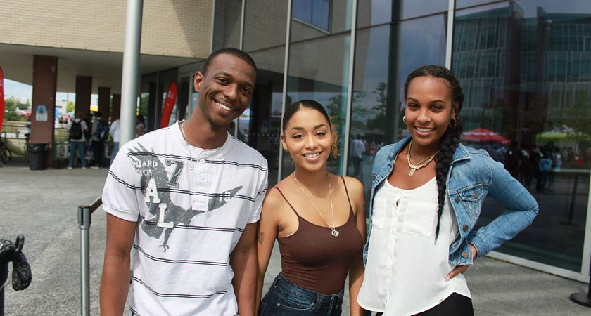 Picture of students outside Progress Campus