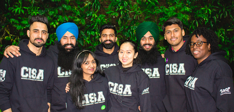 picture of the centennial college international student ambassadors team