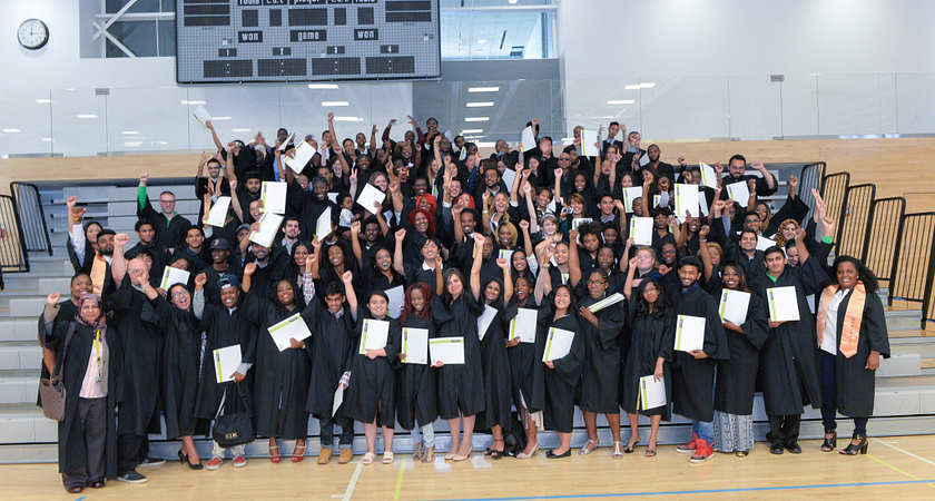 Picture of Centennial College HYPE graduates at the 2015 HYPE Graduation Ceremony.