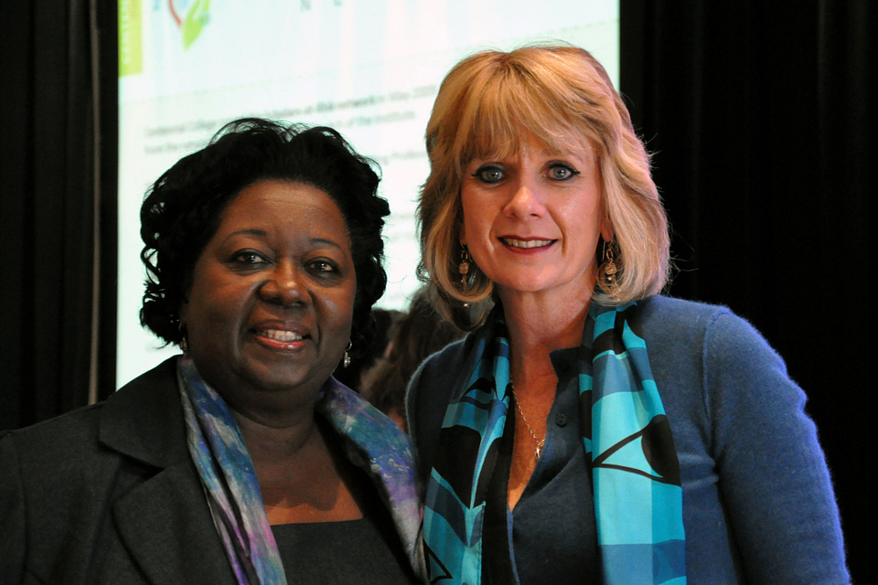 Photo of Ann Buller with the Honourable Jean Augustine, 2012.