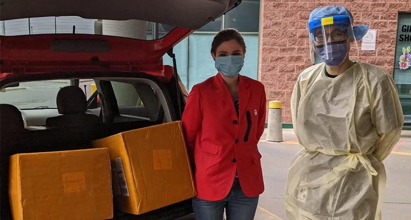 The Business School Professor Delivers PPE to the Scarborough Health Network Image