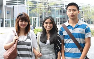 Centennial College students sharing their international experience