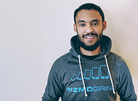 Putting his business skills to work: Ahmed Bafagih creates his own business with GizmoGrind Image