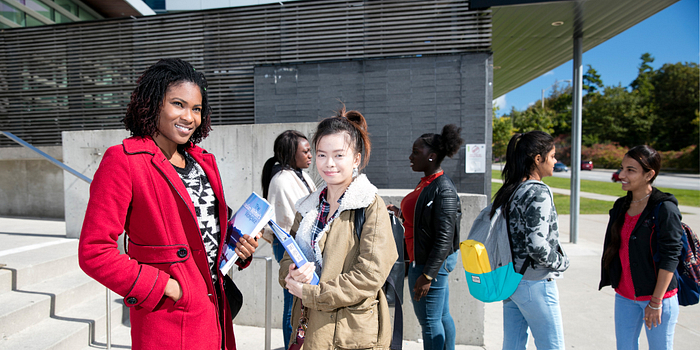 picture of centennial college students on their way to vote in the federal election