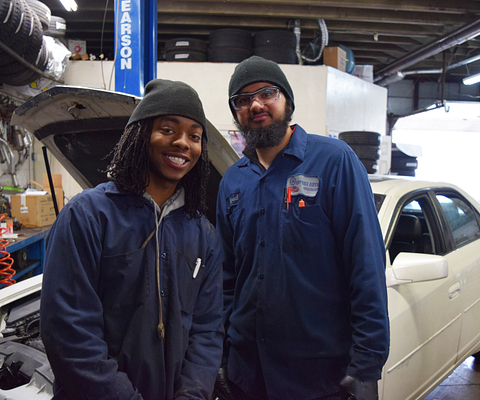 Picture of Automotive Technician Apprenticeship Students Umer Bhagoo and Nicholas Lewis
