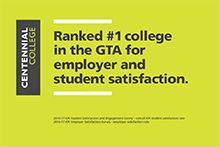 Centennial College leads GTA colleges again in 2017 Image