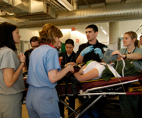Centennial's ARIC and the School of Community and Health Studies jointly organize a mock disaster exercise every year to test the emergency preparedness of Toronto hospitals and first responders.