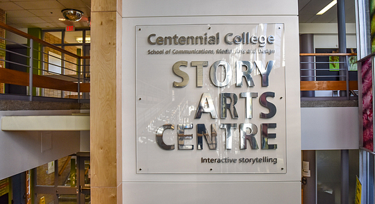 Story Arts Centre school sign