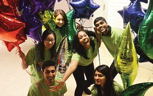 picture of Centennial College Student Ambassadors at a recruitment event
