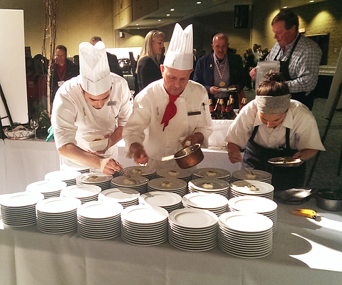 Centennial College culinary arts students at gold medal plate event