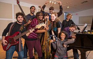 Picture of students from the Centennial College Music Industry Arts and Performance program