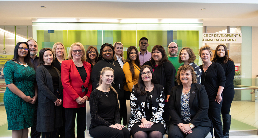 picture of the centennial college office of development and alumni engagement team