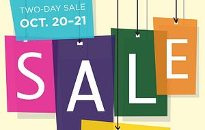 picture writing out two-day sale october 20 to 21