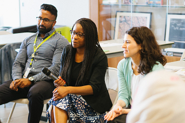 Photo of Centennial College students from diverse backgrounds