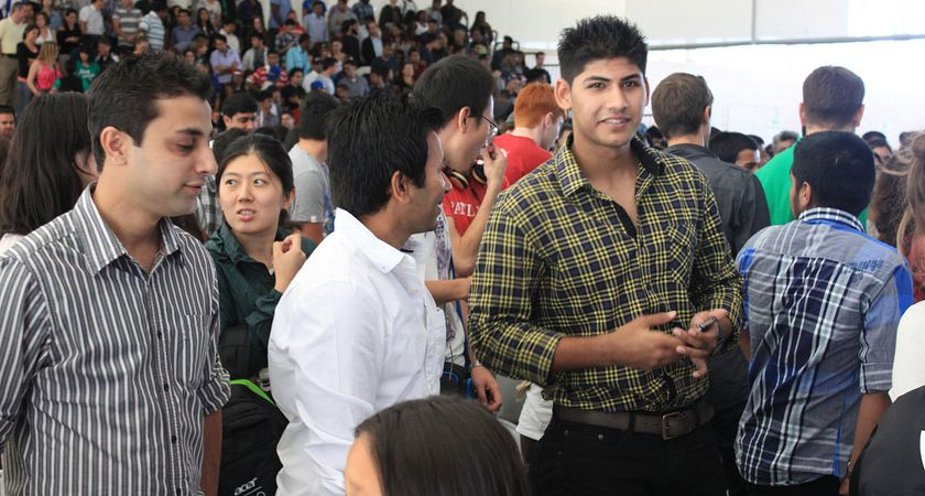 Picture of Centennial College students at a Connect with Centennial Open House