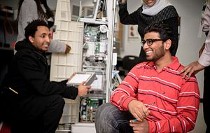 picture-of-Centennial-College-biomedical-engineer-students-in-class-smiling