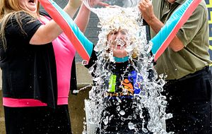 Ann Buller takes the ASL Ice Bucket Challenge.