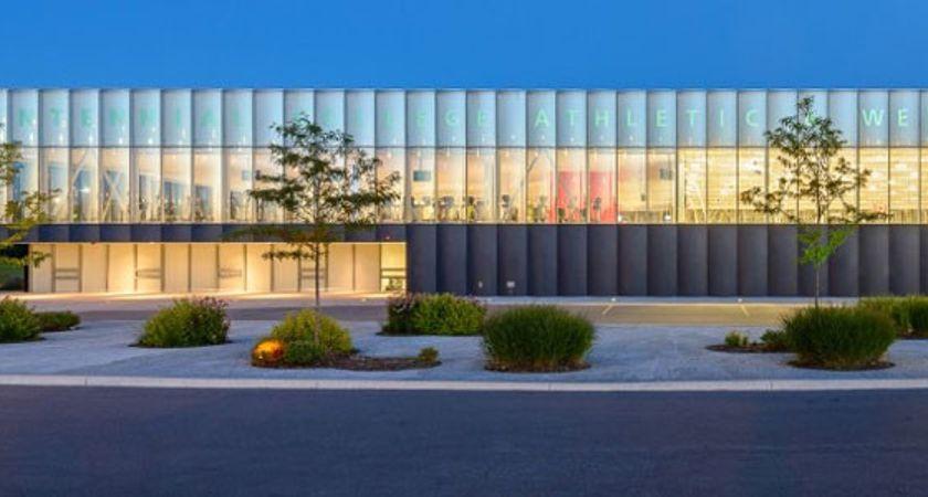 Exterior of Centennial College Recreation Centre
