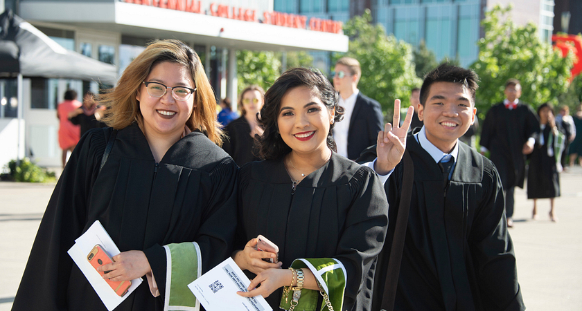 picture of centennial college graduates at a convocation ceremony