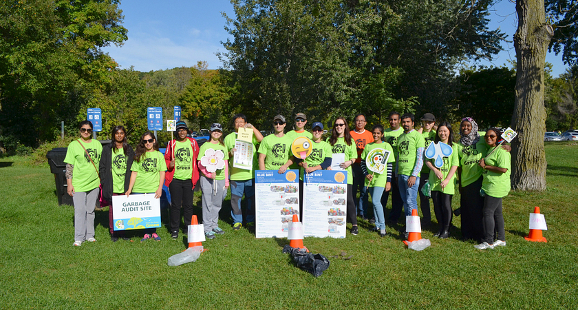 Centennial College Community members at Morningside Park for Paint the Town Green