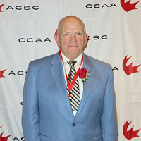 Picture of Chuck Gullickson during the CCAA Hall of Fame Induction Ceremony